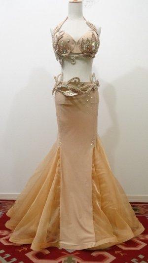 画像1: Big sale Tatiana costume♡シャンパンゴールド(ブラ、ベルト、スカート+おまけキラキラスカート)